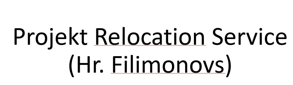 Projekt Relocation Service